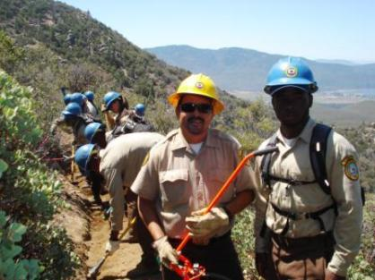 Jose Murillo and Aaron Wilson and the California Conservation Corp from San Bernardino California.