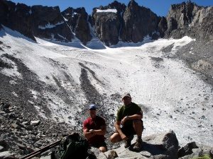 Doug and Anthony at Glacier