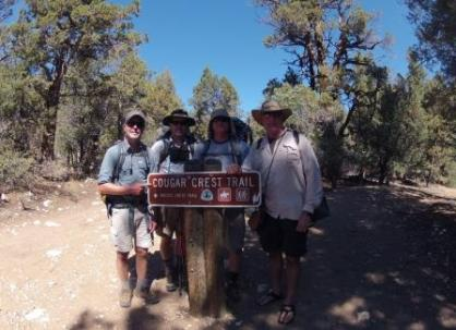 Start of the Cougar Crest Trail